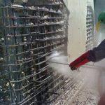 water blasting concrete