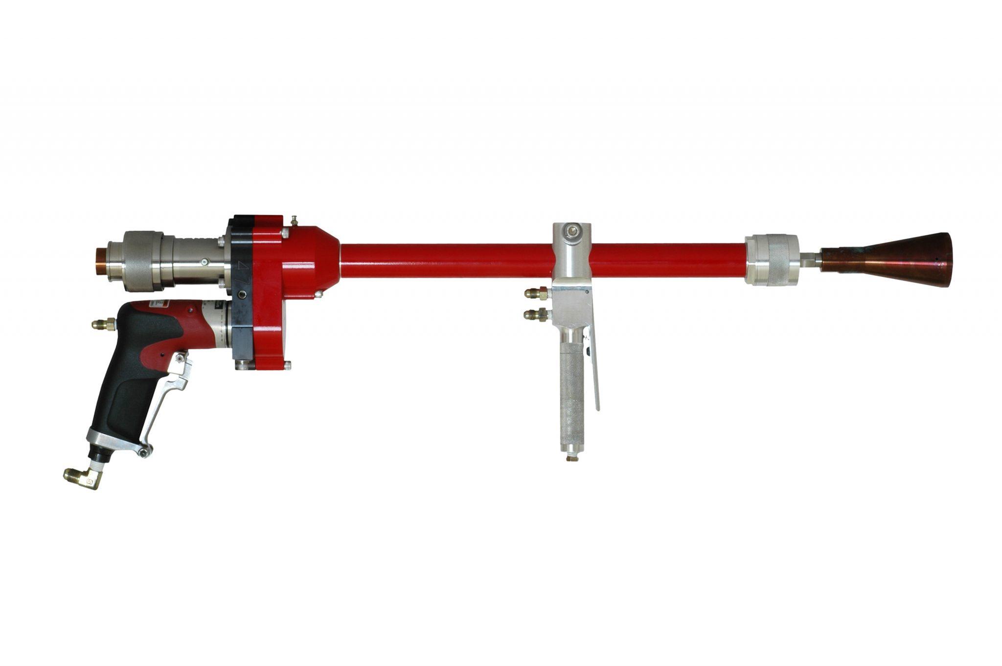 UHP air rotational dump guns