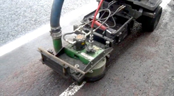 water jetting road marking removal